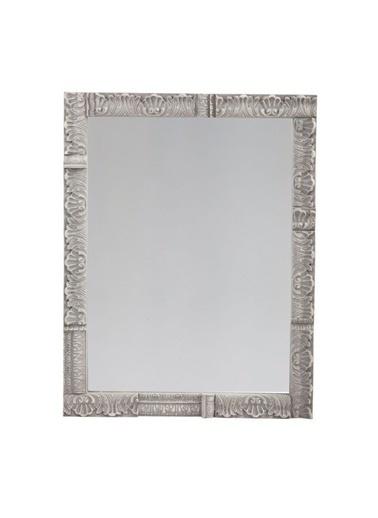 Warm Design Ahşap Çerçeveli Ayna Gri